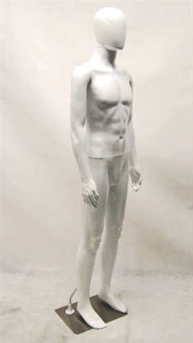 Unbreakable Male Egghead Mannequin in White