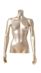 Shiny Pearl 1/2 Torso Female Mannequin with Arms