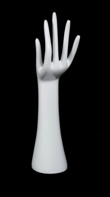 Glossy White Hand Display 14 inches