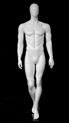 Egghead Muscular Male Mannequin Matte White