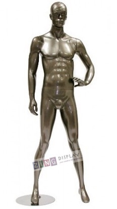 Abstract Male Mannequin Metallic Gold Hand on Hip