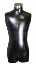 Black Male 3/4 Torso Display Form