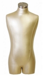 Metallic Gold Male Torso Display Form