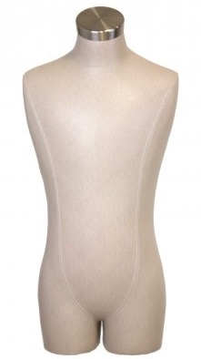Linen Male 3/4 Torso Display Form