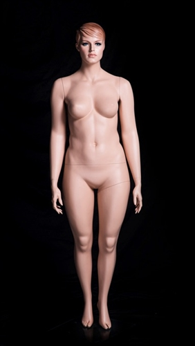 Realistic Facial Features and Molded Hair Plus Sized Female Mannequin from www.zingdisplay.com