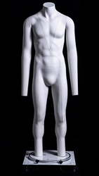 The Ghost - INVISIBLE White Headless Male Mannequin from www.zingdisplay.com
