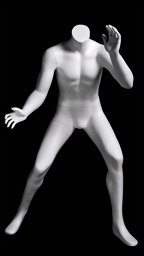 Headless Basketball Boy Child Mannequin Matte White Blocking Pose