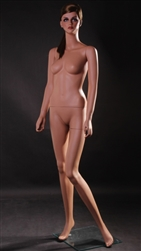 Rose Tan Skin Female Mannequin - Leg Bent from www.zingdisplay.com