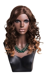 Realistic African American Female Display Head