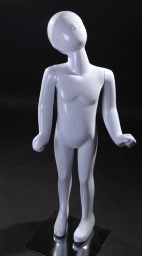 Standing Child Mannequin in White