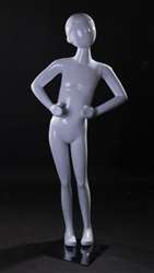 Child Mannequin in Standing Pose in White