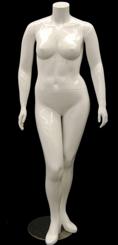 Plus Size Female Mannequin Headless in White