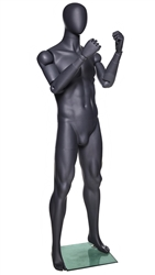 Athletic Grey Egghead Male Mannequins with Flexible Arms