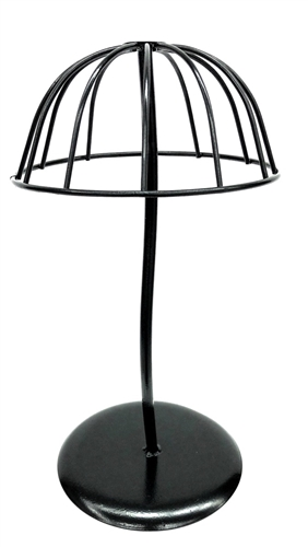Dome Black Metal Table Top Hat / Wig Rack