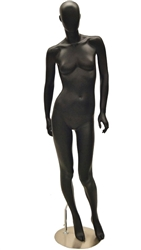 Black Matte Female Egghead Mannequin from www.zingdisplay.com