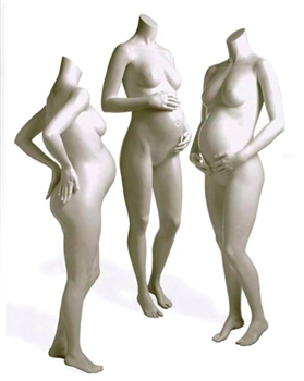 Headless Maternity mannequins in various poses