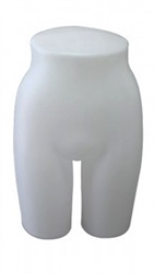 Matte White Plastic Female Lower Body Torso