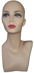 Display Head with Realistic Facial Features