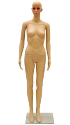 Female Mannequin in Tan with Makeup Unbreakable Plastic