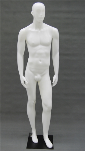 Male Mannequin in Unbreakable White Plastic from www.zingdisplay.com