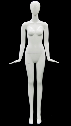 Unbreakable Female Egghead Mannequin in Glossy White
