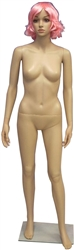 Unbreakable Female Mannequin in Tan with Facial Features