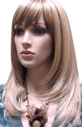 Dirty Blonde Mannequin Wig with Bangs