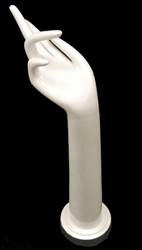 "16.5"" Ladies Right Glove Hand in White Plastic from www.zingdisplay.com"