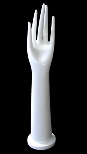 "16"" Ladies Right Glove Hand in White Plastic from www.zingdisplay.com"