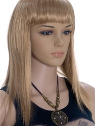 Blonde Straight Hair Mannequins wig