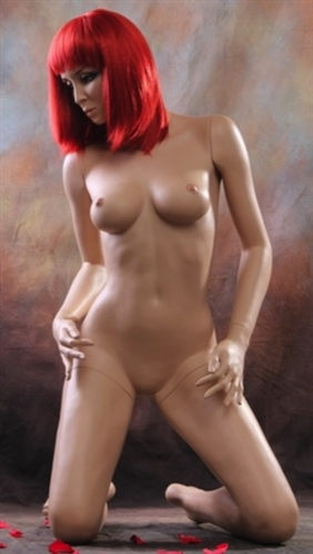 Realistic Sexy Female Mannequin Kneeling Pose - Looking Right