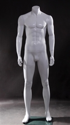 Photo: Male Mannequin Form | White Male Headless Mannequin (Full)