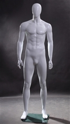 Abstract Egghead Male Mannequin in Glossy White from www.zingdisplay.com