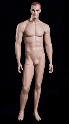 Male Mannequin Form with Realistic Facial Features