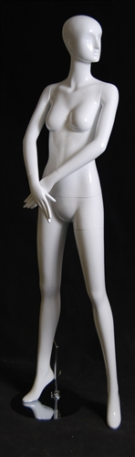 Abstract Head Female Mannequin in Glossy White from www.zingdisplay.com