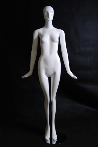 Glossy White Abstract Female Mannequin from www.zingdisplay.com