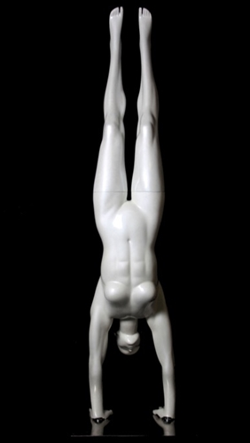 Glossy Pearl Abstract Female Handstand Yoga Mannequin