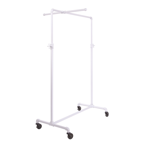 Adjustable Ballet Rack in Glossy White with Cross Bar