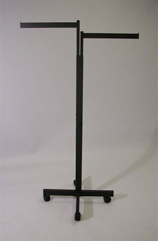 2-Way Black Rectangular Rack With Flag Arms