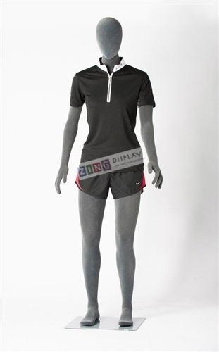 Egghead Posable Female Mannequin in Gray