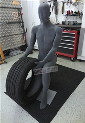Grey Adjustable Mannequin with Facial Features from Zing Display