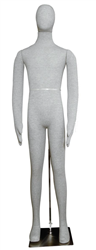 Fully Posable Male Mannequin in Grey