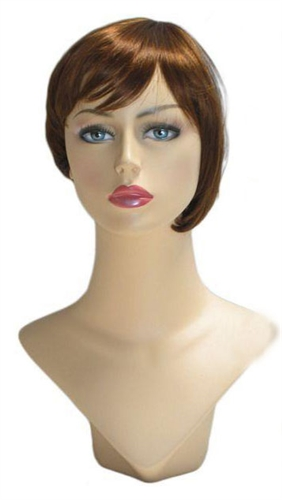 Gingerbread Womans Bob wig for mannequin or head display