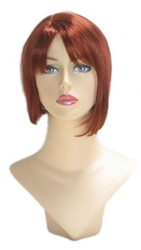 Red Womans Bob wig for mannequin or head display