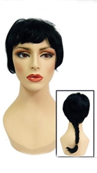 Black Ponytail wig for mannequin or head display