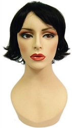 Unisex Black Short Hair for mannequin or head display