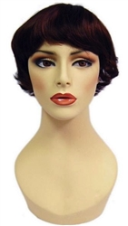 Unisex Red Short Hair wig for mannequin or head display