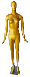 Female Mannequin in Glossy Gold from www.zingdisplay.com