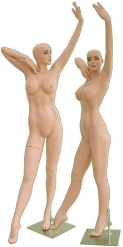Curvy Female Fiberglass Mannequin Striking Pose