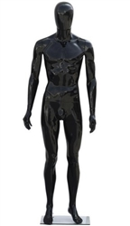 Unbreakable Male Egghead Mannequin in Matte Black